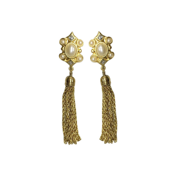 Victory Chain Tassel Earrings