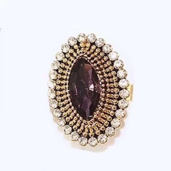 Violet Vogue Adjustable Ring