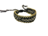 WOVEN LINKS ADJUSTABLE BRACELET MULTICOLOUR