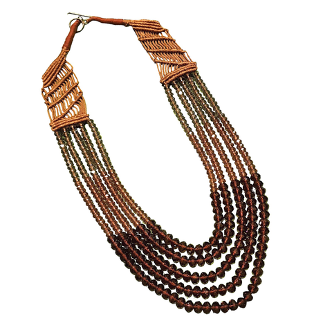 Ombré Bohemian Beaded MultiLayer Necklace