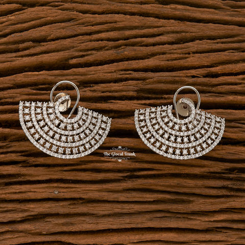 Alectrona Cz Top Stud Earrings