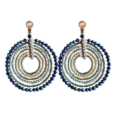 Bohemian Beaded Disc Dangler Earrings