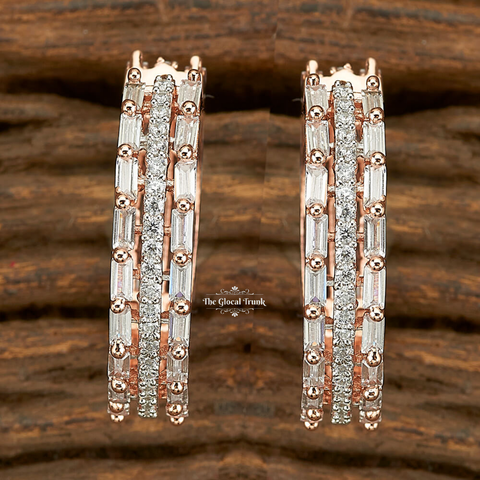 Iris Cz Full Hoop Earrings