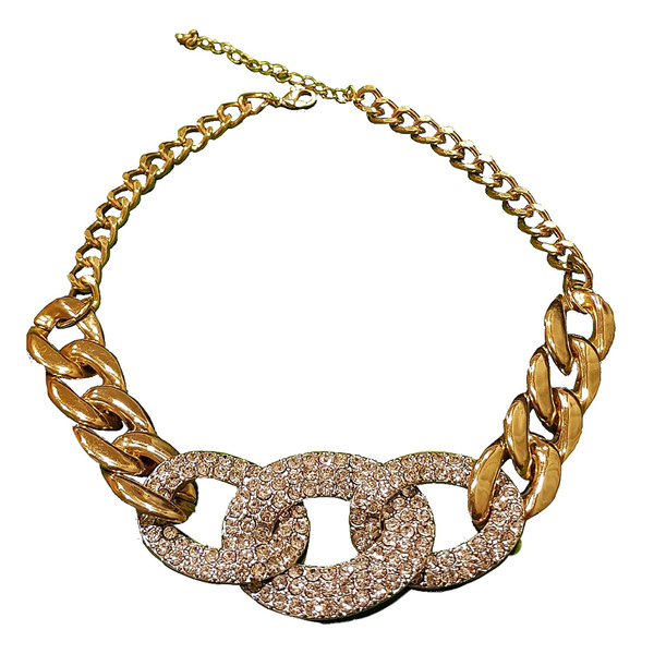 Bling Stone Statement Link Necklace
