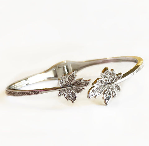Fall Before Spring Open Metal Bracelet