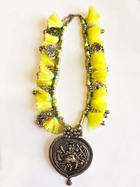 Bohemian Sunshine Tassel Necklace