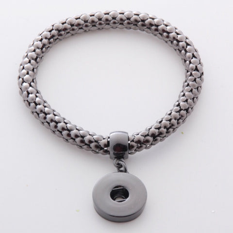 BUTTON STRETCH BRACELET ONYX