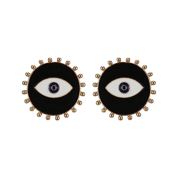 Evil Eye Enamel Stud Earrings