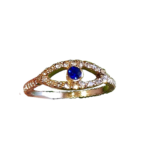 Blingtastic Mini Evil Eye Ring
