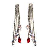Bohemian Droplets Stud Long Earrings