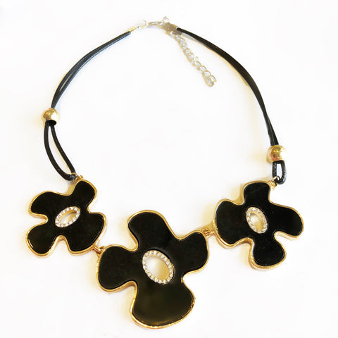 Summer Night Floral Stone Necklace
