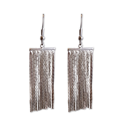 Mesh Bling Hook Dangler Earrings