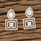 Grace Cz Stud Drop Earrings