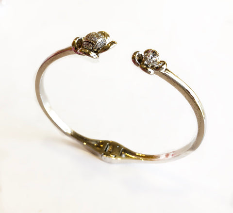Spring Bloom Open Metal Bracelet