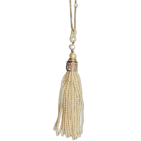Regalia Pearl Long Tassel Necklace