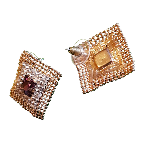 Oh So Square Bling Top's Stud Earrings