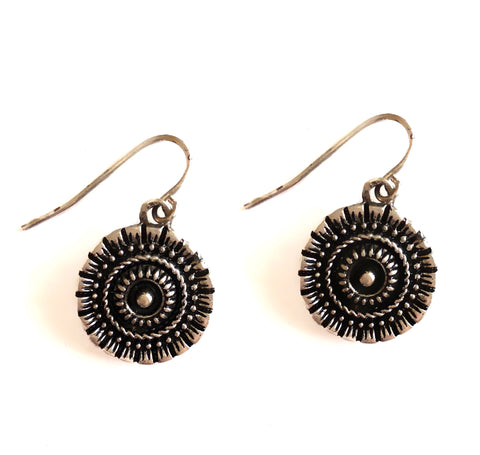 Bohemian Tribal Coin Hook Earring