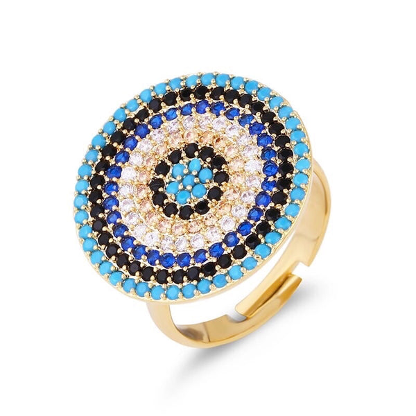 Concentric Evil Eye Ring