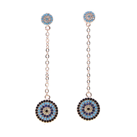Connect Me Evil Eye Earrings