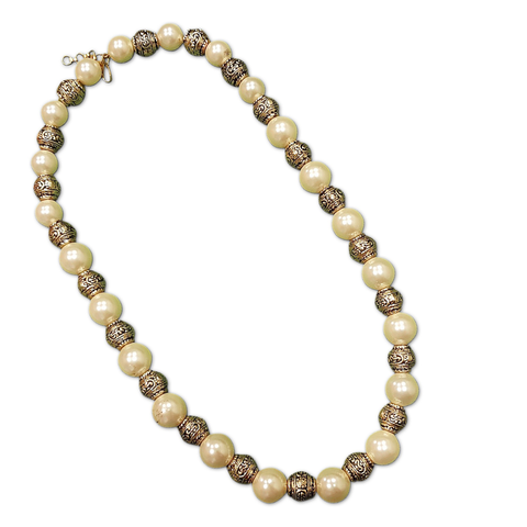Vintage Bohemian Pearl & Bead Necklace