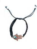 HAMSA CRYSTAL & ENAMEL ADJUSTABLE BRACELET