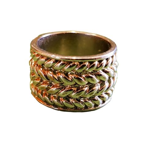 Braided Metallica Cuff Ring