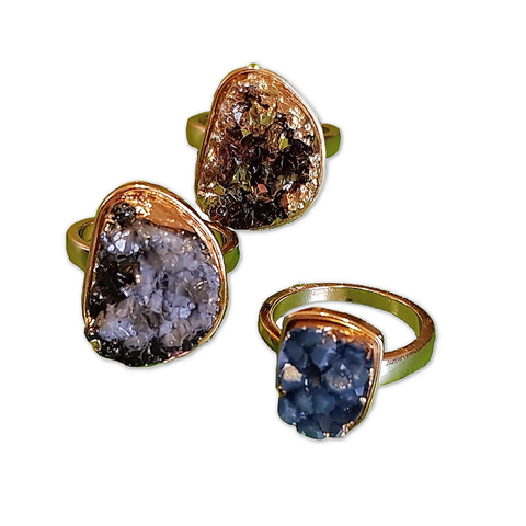 Natural Bohemia Stone Set of 3 Rings