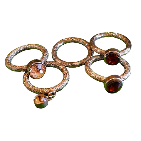 Amber Bling Stack Rings