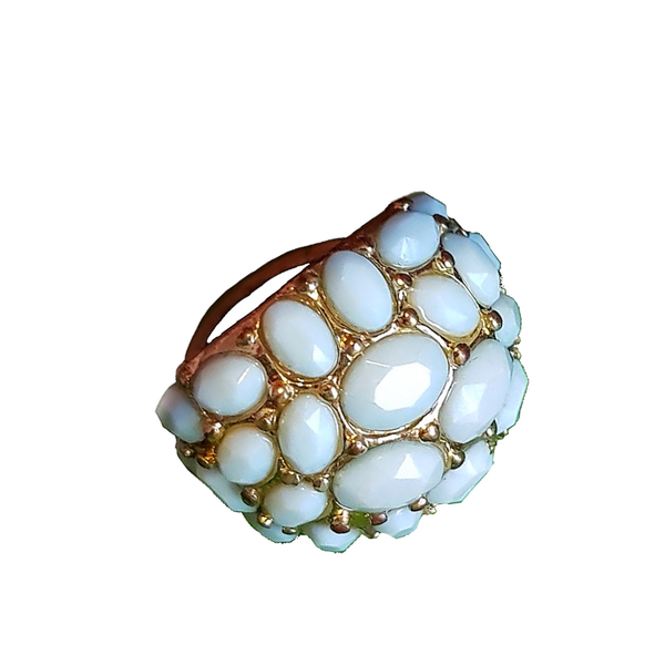 Bohemian Blue Cocktail Ring