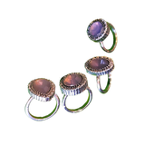 Lavender Bohéme Set of 4 Rings (large)