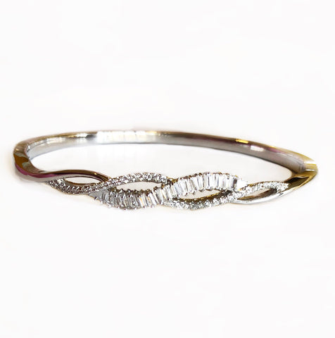 Rope Me Up Stone Bangle Bracelet