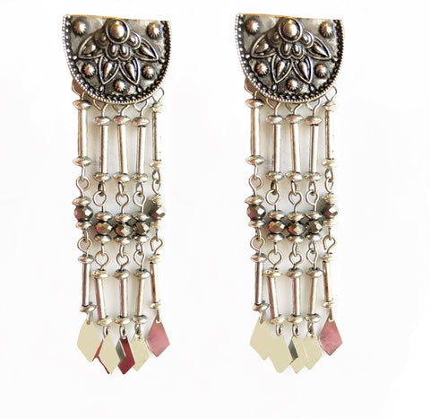 Half Moon Tribal Dangler Earrings