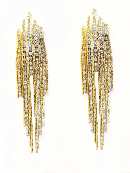 Sandy Shimmer Mid Flat Mesh Earrings