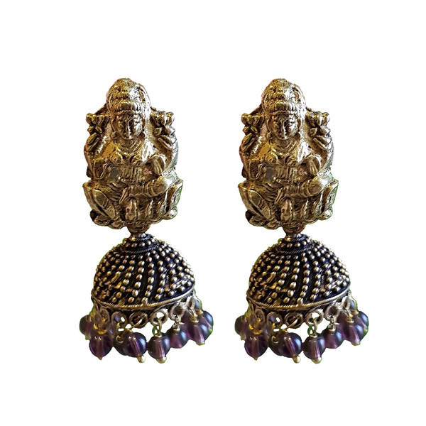Bohemian Divinity Jhumka Earrings