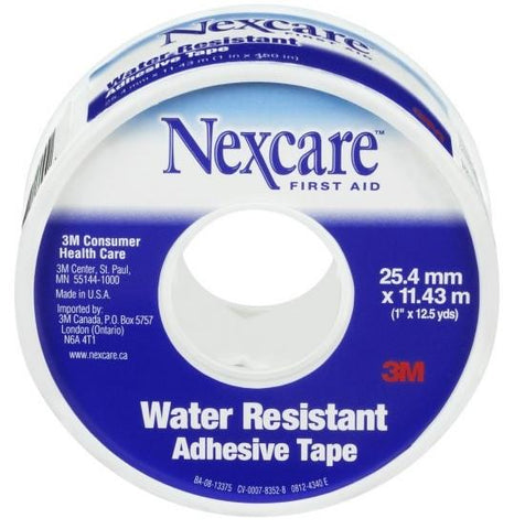 "3M 861B Nexcare Water Resistant Adhesive Tape 1"" x 12.5 Yards"