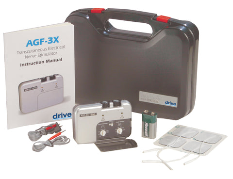 drive-medical-portable-three-mode-dual-channel-tens-unit-with-electrodes-and-carry-case-agf-3x