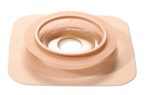 "ConvaTec 421034 Natura Moldable Skin Barrier With Accordion Flange, Stomahesive Skin Barrier With Mold-To-Fit Opening, Hydrocolloid Tape Collar, Accordion Flange Tan 57mm (2-1/4"") Flange; 22-33mm (7/8"" - 1-1/4"") Stoma Opening"