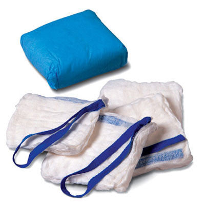 "Derma Sciences 1213 Laparotomy Sponges, Prewashed, X-Ray Detectable 18"" x 18"", 4-Ply, (Flat Pouch)"