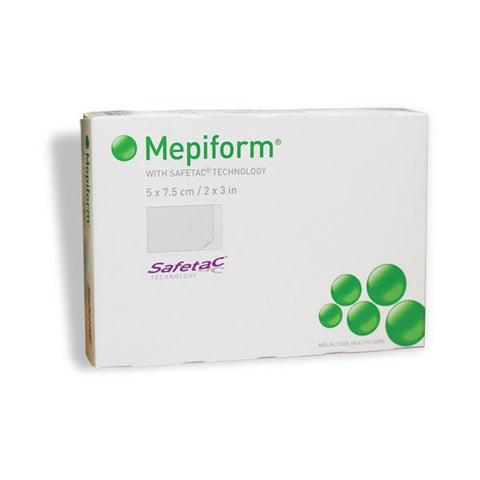 Molnlycke 293200 Mepiform Scar Care Dressing With Safetac 5cm x 7.5cm