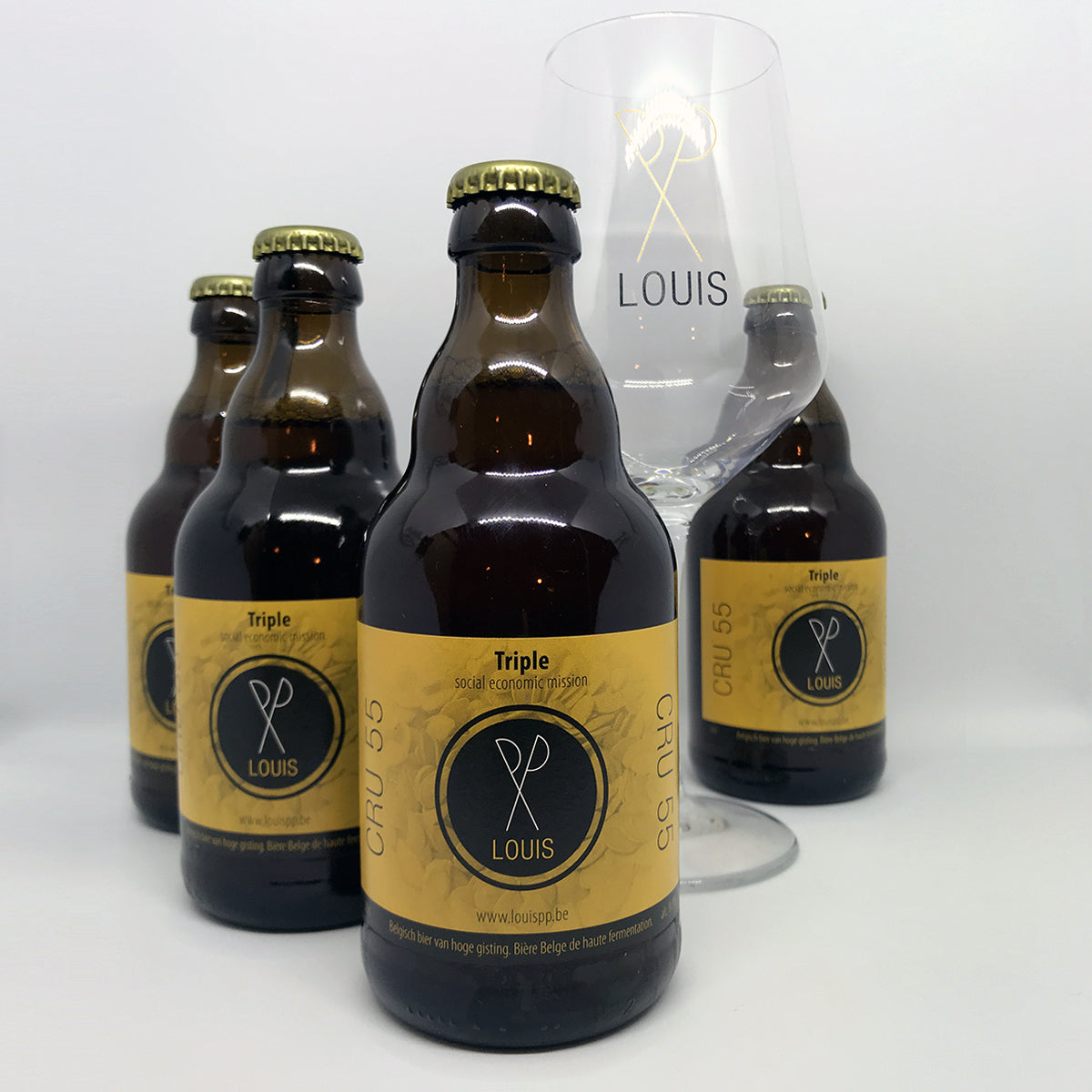 Louis pp 4x33cl + glas