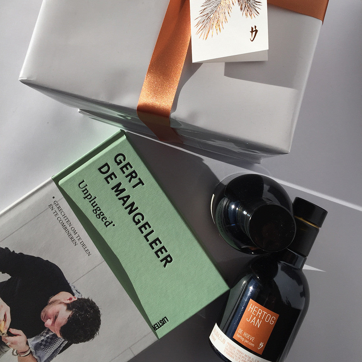 Gift - Book Gert De Mangeleer + Olive Oil & Wine Vinegar