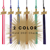 2 Color 2021 Gold Charm