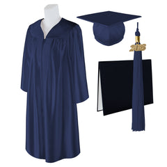 "Standard SHINY Graduation Cap, Gown and DIPLOMA with Matching 2018 Tassel - Size  6'6""-6'8"""
