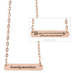 Senior 2017 Direction Necklace Graduation Gift Rose Gold