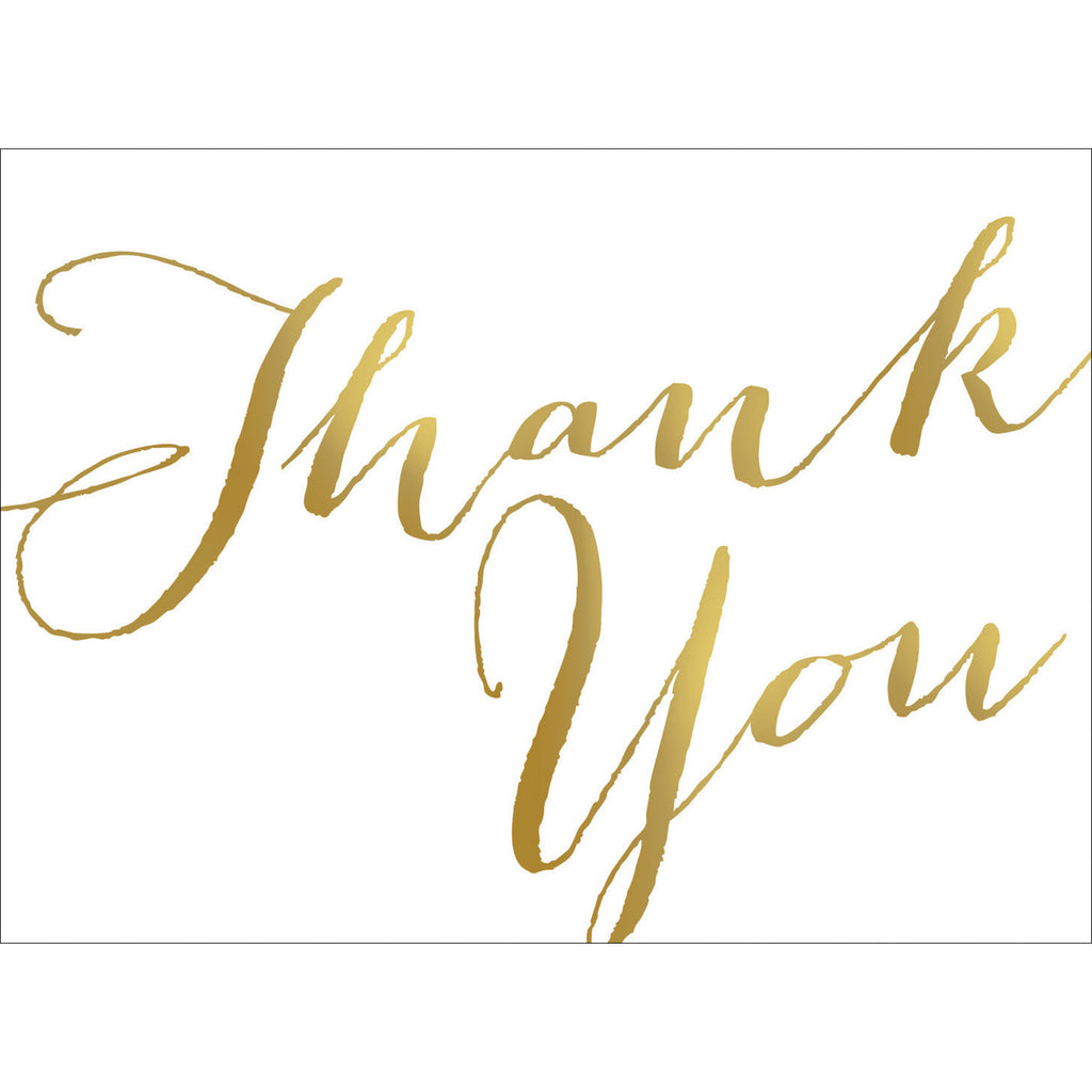Thank You Note- Gold-  10 Count