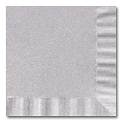 Silver Grey Beverage Napkins