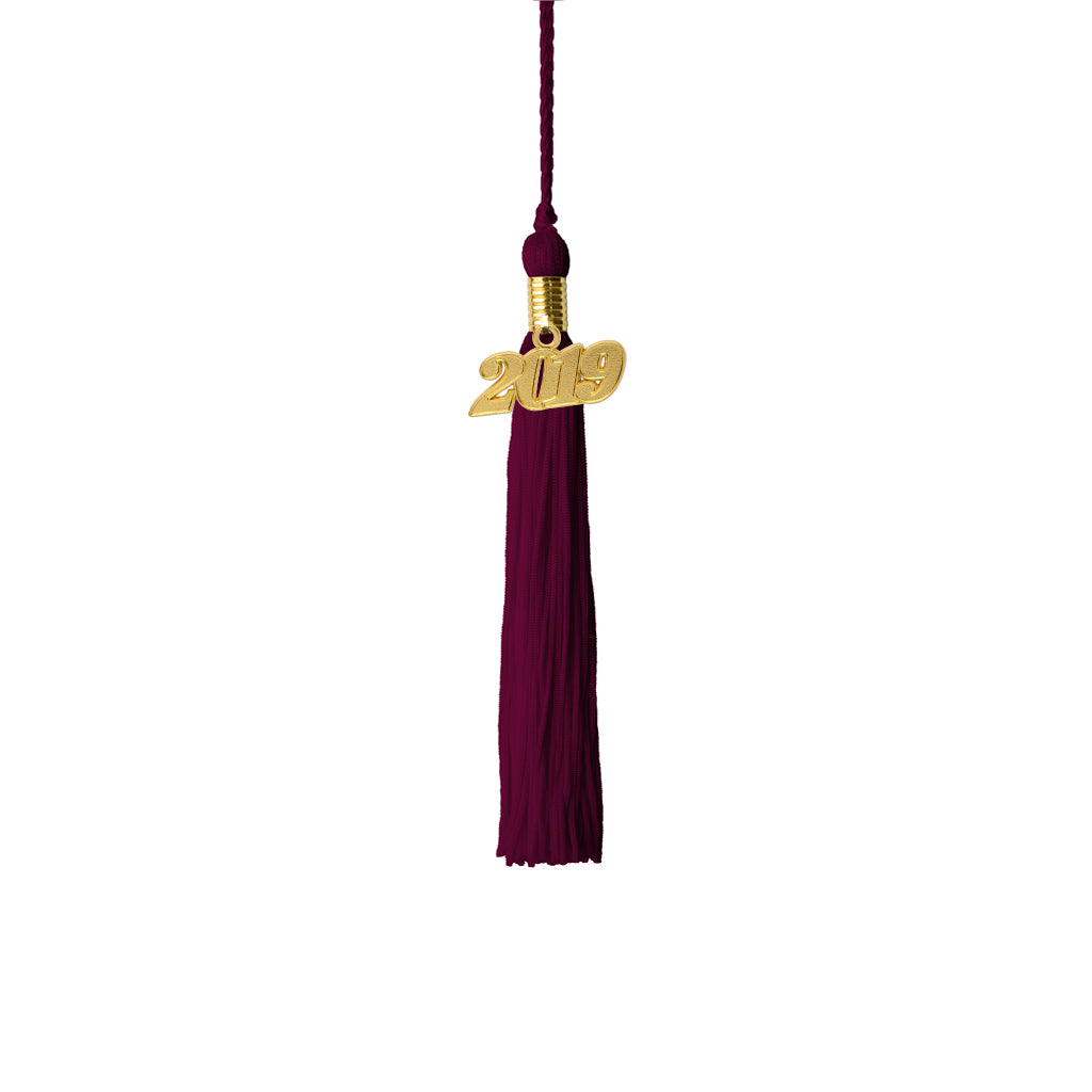 Youth Youth Graduation Tassel with 2019 Gold Charm, Single Color Tassels