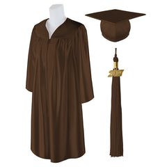 "Standard Shiny Graduation Cap and Gown with Matching 2017 Tassel - Size  5'6""-5'8"""