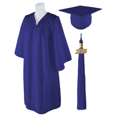 "Standard Matte Graduation Cap and Gown with Matching 2018 Tassel - Size  5'9""-5'11"""