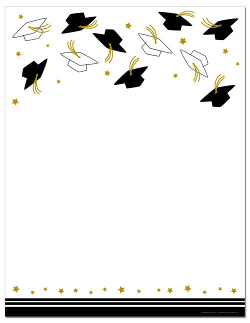 Hat Toss Letterhead  -  25 Sheet Count
